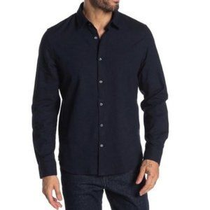 Slate & Stone Solid Trim Fit Shirt, Navy, Large
